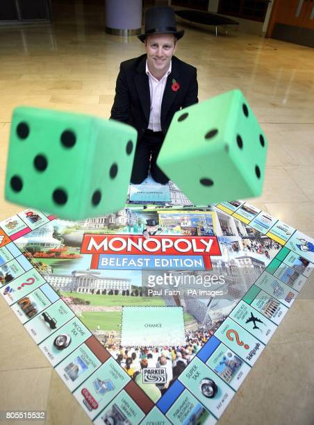 Mark Marrriot designer of the Monopoly Belfast edition at the launch of the popular board game in Belfast