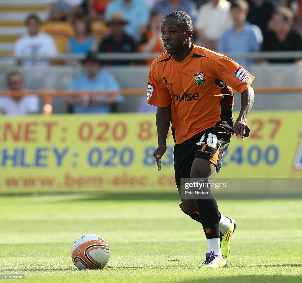 Mark Marshall of Barnet in action during the npower League Two match between Barnet and Northampton Town at Underhill Stadium on October 1, 2011 in Barnet, England.