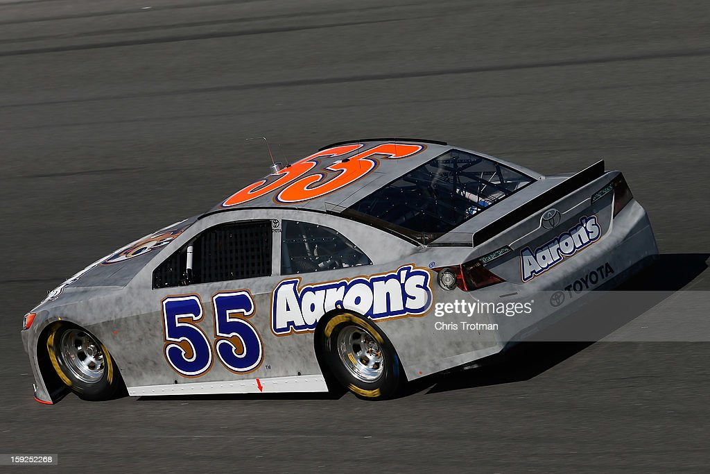 Mark Martin drives the #55 Toyota during NASCAR Sprint Cup Series Preseason Thunder testing at Daytona International Speedway on January 10, 2013 in Daytona Beach, Florida.