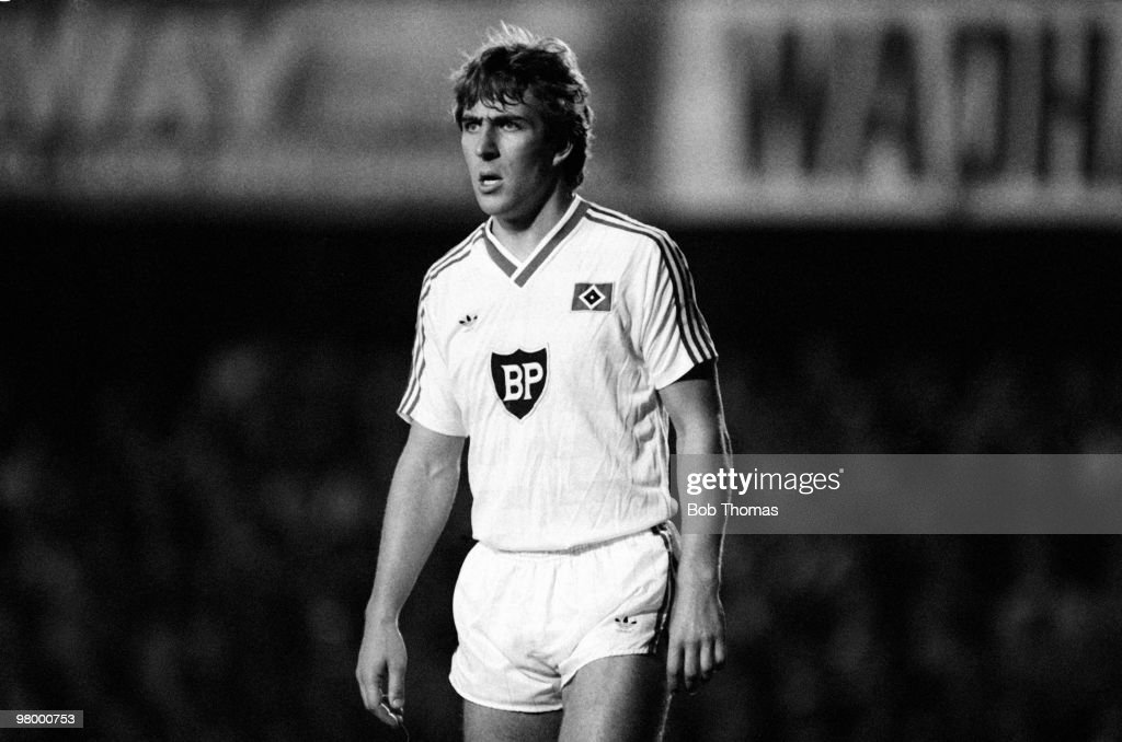 Mark McGhee of SV Hamburg in action against Southampton during the UEFA Cup 1st round 1st leg held at The Dell Southampton on 19th September 1984 The...