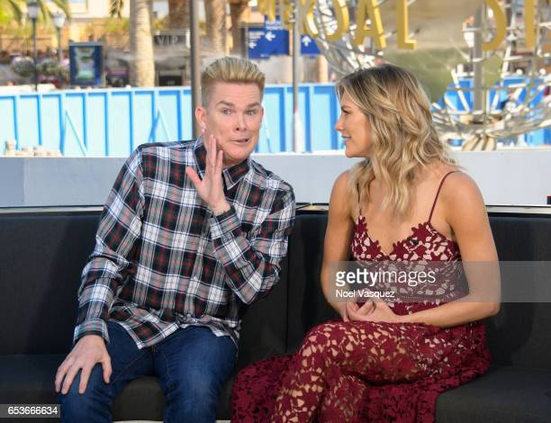 Mark McGrath and Charissa Thompson visit 'Extra' at Universal Studios Hollywood on March 15 2017 in Universal City California