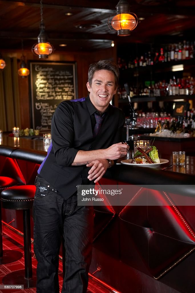 Mark McGrath at his Restaurant