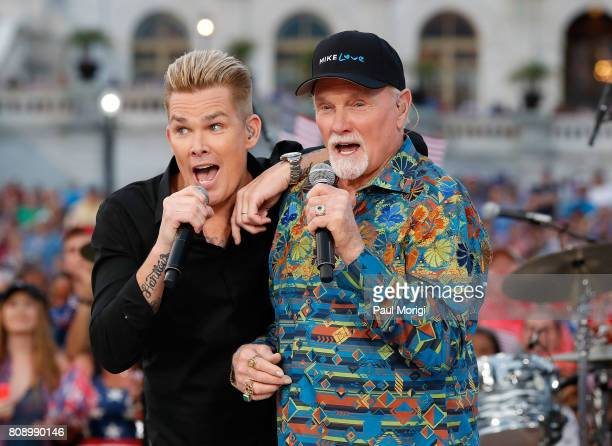 Mark McGrath of Sugar Ray and Mike Love of The Beach Boys perform at A Capitol Fourth at US Capitol West Lawn on July 4 2017 in Washington DC