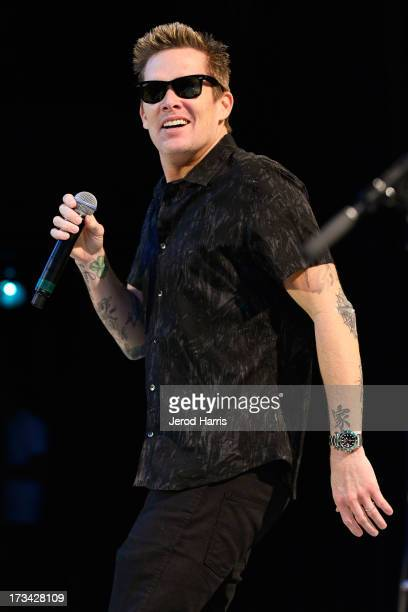 Mark McGrath of Sugar Ray performs on the 'Under The Sun 2013' Summer Tour at The Greek Theatre on July 13 2013 in Los Angeles California