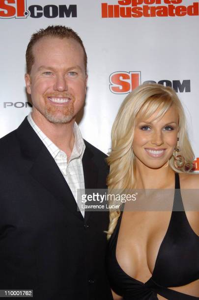 Mark McGwire and Stephanie McGwire during Sports Illustrated 2005 Swimsuit Issue Press Conference at AER Lounge in New York City New York United...
