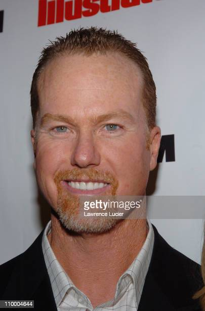 Mark McGwire during Sports Illustrated 2005 Swimsuit Issue Press Conference at AER Lounge in New York City New York United States