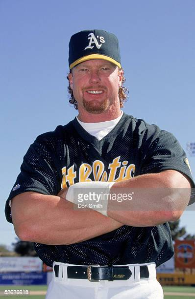 Mark McGwire of the Oakland Athletics poses for a season portrait Mark McGwire played for the Oakland Athletics from 19861997