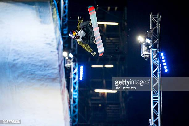 Mark McMorris from Canada jumps during Air and Style Festival February 6 2016 in Innsbruck Austria
