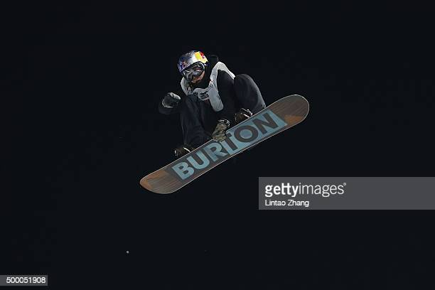 Mark McMorris of Canada competes during the AirStyle Beijing 2015 Snowboard World Cup at Beijing National Stadium on December 5 2015 in Beijing China