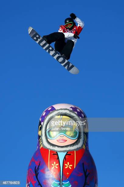 Mark McMorris of Canada competes during the Snowboard Men's Slopestyle Semifinals during day 1 of the Sochi 2014 Winter Olympics at Rosa Khutor...
