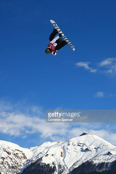 Mark McMorris of Canada competes in the Snowboard Men's Slopestyle Final during day 1 of the Sochi 2014 Winter Olympics at Rosa Khutor Extreme Park...