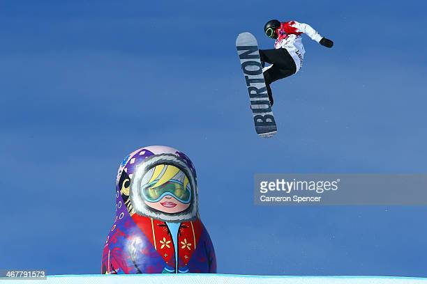 Mark McMorris of Canada competes in the Snowboard Men's Slopestyle Semifinal during day 1 of the Sochi 2014 Winter Olympics at Rosa Khutor Extreme...
