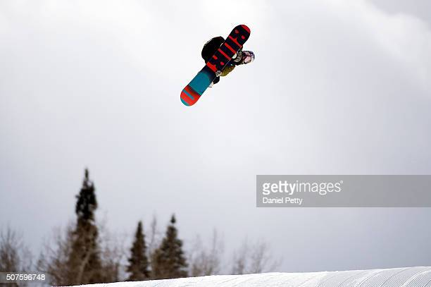 Mark McMorris of Canada hits his second jump during the second run of the men's snowboard slopestyle event at Winter X Games 2016 Aspen at Buttermilk...