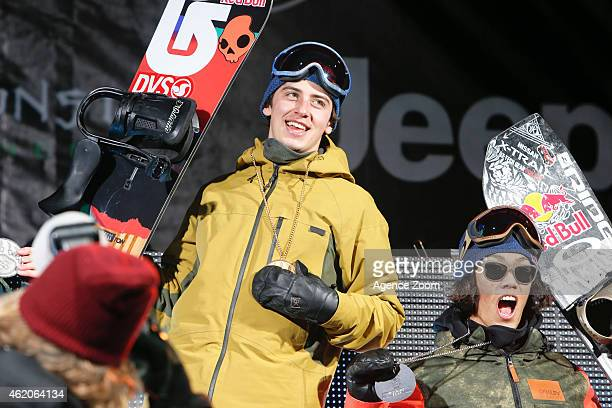 Mark McMorris of Canada takes 1st place during the Winter X Games America's Navy Snowboard Big Air on January 23 2015 in Aspen Colorado