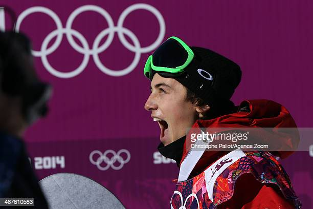 Mark McMorris of Canada takes 3rd place during the Snowboarding Men's Slopestyle at the Rosa Khutor Extreme Park on February 08 2014 in Sochi Russia