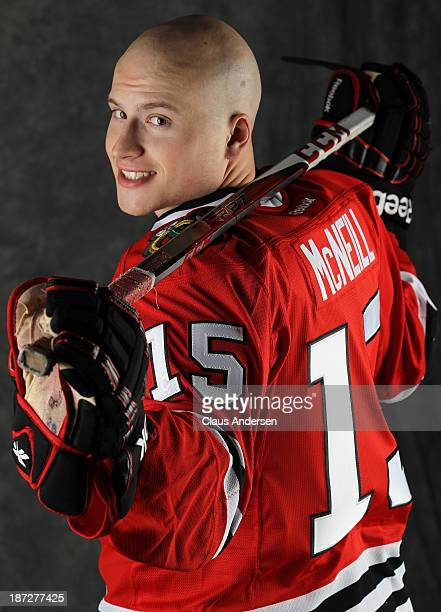 Mark McNeill of the Chicago Black Hawks poses for an NHLPA The Players Collection portrait at the Mastercard Centre on August 27 2013 in Toronto...