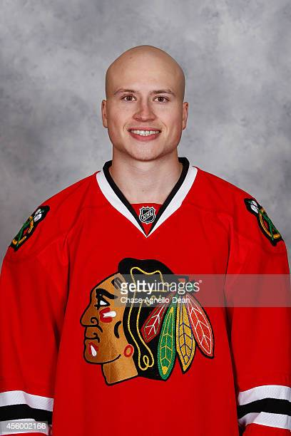 Mark McNeill of the Chicago Blackhawks poses for his official headshot for the 20142015 season on September 18 2014 at the United Center in Chicago...