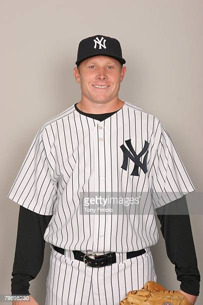 Mark Melancon of the New York Yankees poses for a portrait during photo day at Legends Field on February 21 2008 in Tampa Florida