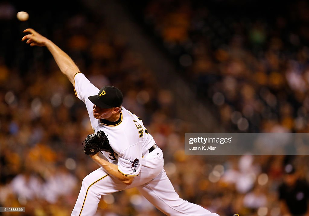 <a gi-track='captionPersonalityLinkClicked' href=/galleries/search?phrase=Mark+Melancon&family=editorial&specificpeople=4900198 ng-click='$event.stopPropagation()'>Mark Melancon</a> #35 of the Pittsburgh Pirates pitches in the ninth inning during the game against the Los Angeles Dodgers at PNC Park on June 24, 2016 in Pittsburgh, Pennsylvania.
