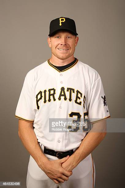 Mark Melancon of the Pittsburgh Pirates poses during Photo Day on Thursday February 26 2015 at Pirate City in Bradenton Florida