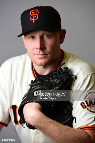 Mark Melancon of the San Francisco Giants poses for a portait during a MLB photo day at Scottsdale Stadium on February 20 2017 in Scottsdale Arizona