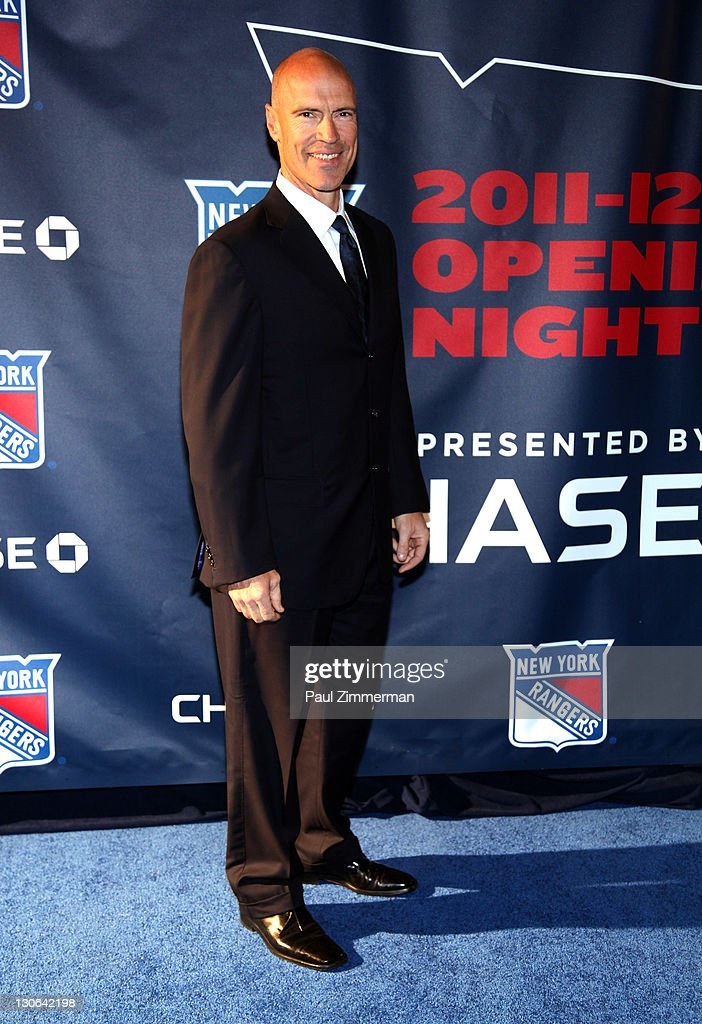 <a gi-track='captionPersonalityLinkClicked' href=/galleries/search?phrase=Mark+Messier&family=editorial&specificpeople=201793 ng-click='$event.stopPropagation()'>Mark Messier</a> attends the New York Rangers home opener at Madison Square Garden on October 27, 2011 in New York City.