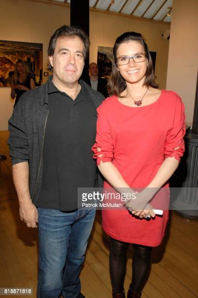 Mark Montefiore and Prune Vidal attend Opera Gallery Opening Voigt Monet and Vukelic at Opera Gallery on April 15 2010 in New York City
