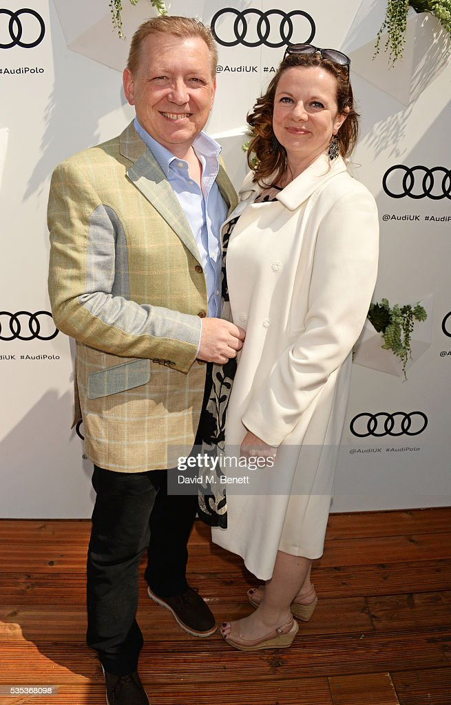 Mark Moody (L) attends day two of the Audi Polo Challenge at Coworth Park on May 29, 2016 in London, England.