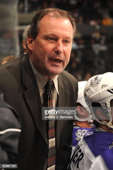 Mark Morris of the Manchester Monarchs on the Los Angeles Kings bench during the game against the Phoenix Coyotes on September 22 2008 at Staples...