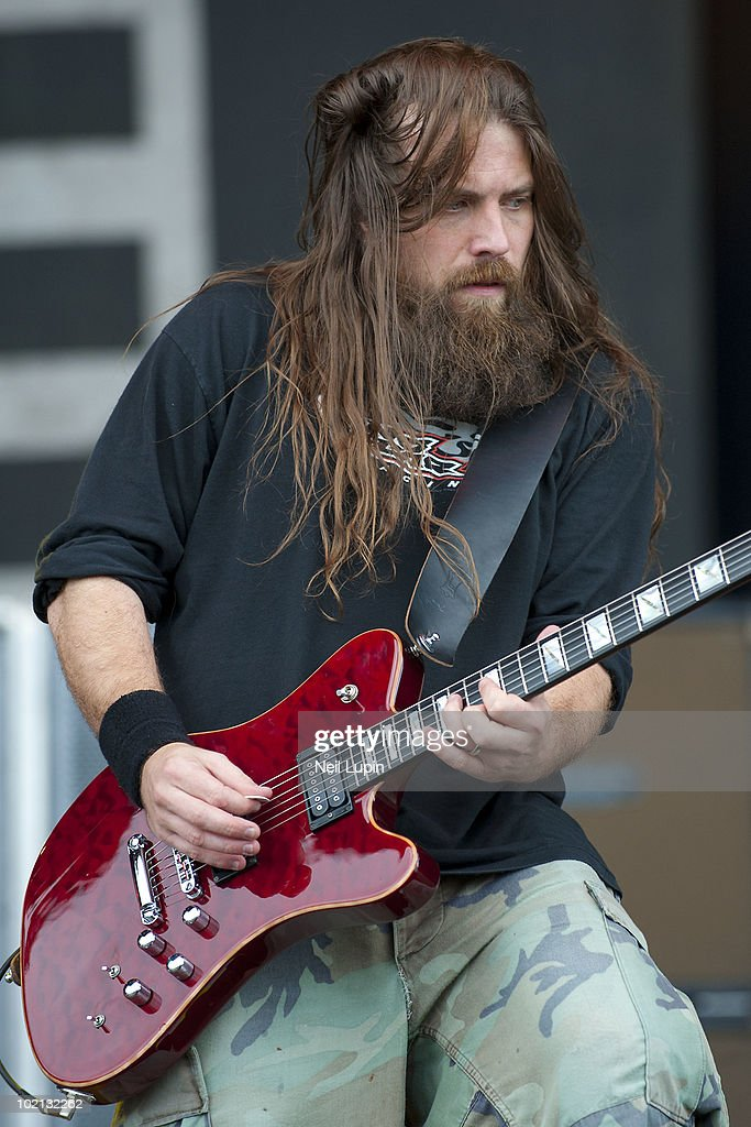 Mark Morton of Lamb Of God performs on stage on the second day of the Download Festival at Donington Park on June 12, 2010 in Castle Donington, England.
