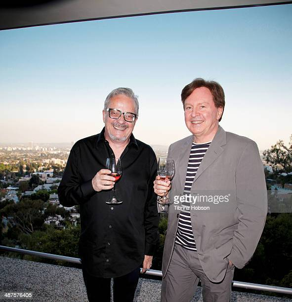 Mark Mothersbaugh and Gerald Casale of Devo attend the '50 By 50' launch tasting event hosted by founder Gerald Casale at Kun House on April 30 2014...