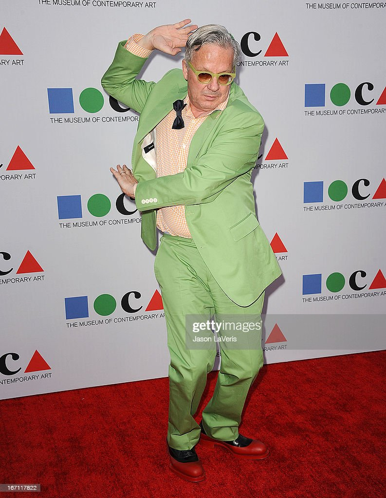 <a gi-track='captionPersonalityLinkClicked' href=/galleries/search?phrase=Mark+Mothersbaugh&family=editorial&specificpeople=657806 ng-click='$event.stopPropagation()'>Mark Mothersbaugh</a> of Devo attends the 2013 MOCA Gala at MOCA Grand Avenue on April 20, 2013 in Los Angeles, California.