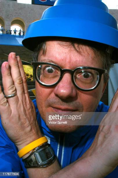 Mark Mothersbaugh of DEVO during Nike's 2nd Annual Run Hit Wonder Race and DEVO Concert at Los Angeles Coliseum in Los Angeles California United...