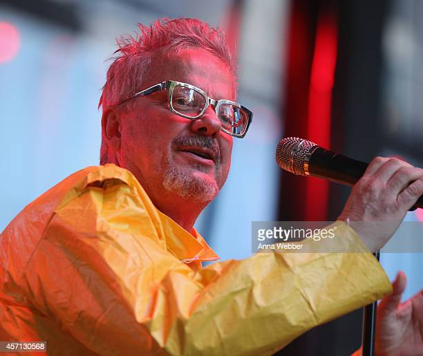 Mark Mothersbaugh of Devo performs at CBGB Music Film Festival 2014 Times Square Concerts on October 12 2014 in New York City