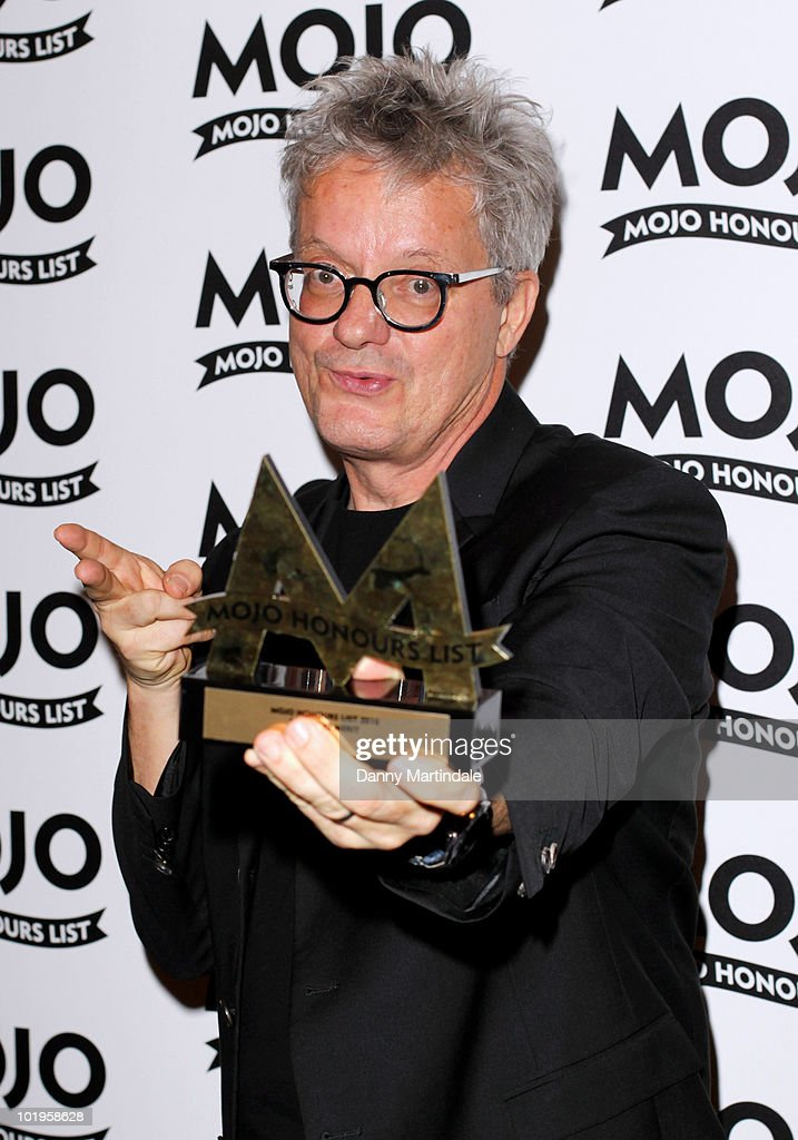 <a gi-track='captionPersonalityLinkClicked' href=/galleries/search?phrase=Mark+Mothersbaugh&family=editorial&specificpeople=657806 ng-click='$event.stopPropagation()'>Mark Mothersbaugh</a> of DEVO with award at The Mojo Honours List at The Brewery on June 10, 2010 in London, England.