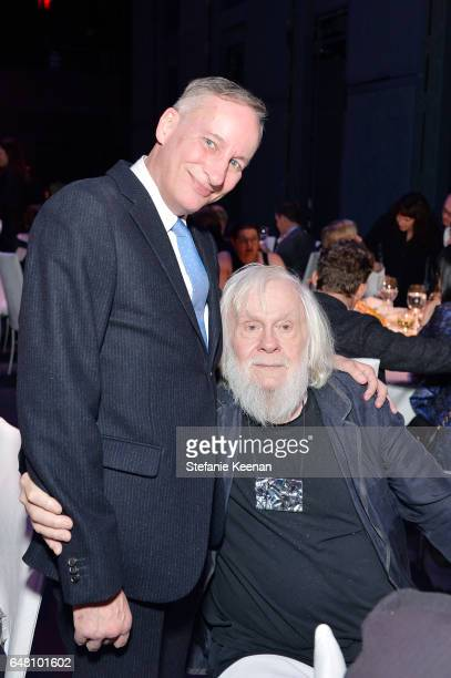 Mark Murphy and John Baldessari attend 2017 REDCAT Gala Honoring Janet Dreisen Rappaport and John Baldessari on March 4 2017 in Los Angeles California
