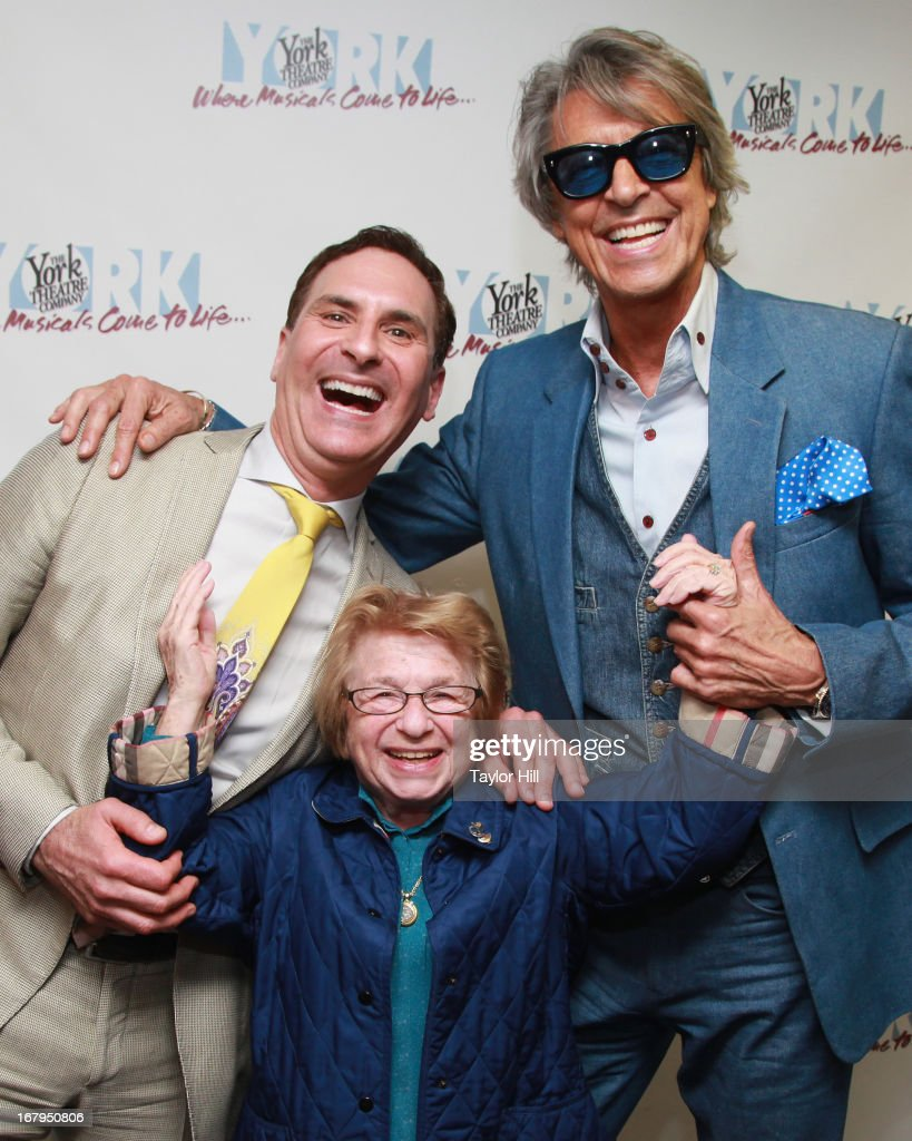 Mark Nadler, Dr. Ruth, and Tommy Tune attend the after party for 'I'm A Stranger Here Myself' Off Broadway Opening Night at The York Theatre at Saint Peter's on May 2, 2013 in New York City.
