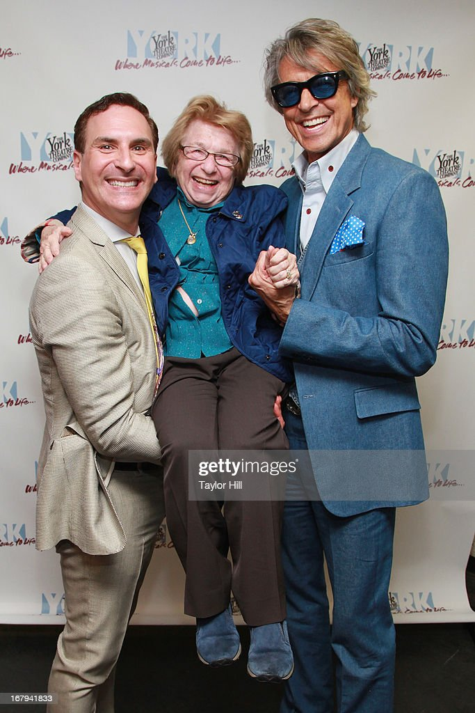 Mark Nadler, Dr. <a gi-track='captionPersonalityLinkClicked' href=/galleries/search?phrase=Ruth+Westheimer&family=editorial&specificpeople=216372 ng-click='$event.stopPropagation()'>Ruth Westheimer</a>, and <a gi-track='captionPersonalityLinkClicked' href=/galleries/search?phrase=Tommy+Tune&family=editorial&specificpeople=208783 ng-click='$event.stopPropagation()'>Tommy Tune</a> attend 'I'm A Stranger Here Myself' Off Broadway Opening Night at The York Theatre at Saint Peter's on May 2, 2013 in New York City.