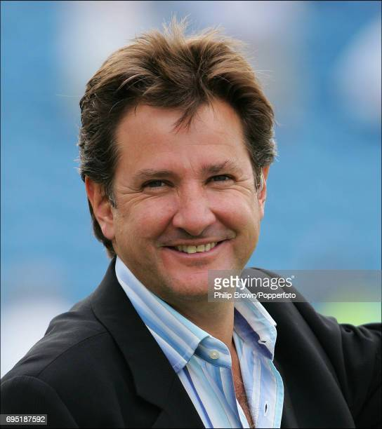 Mark Nicholas Channel 4 television presenter during the NatWest One Day international match between Australia and Bangladesh at Old Trafford in...
