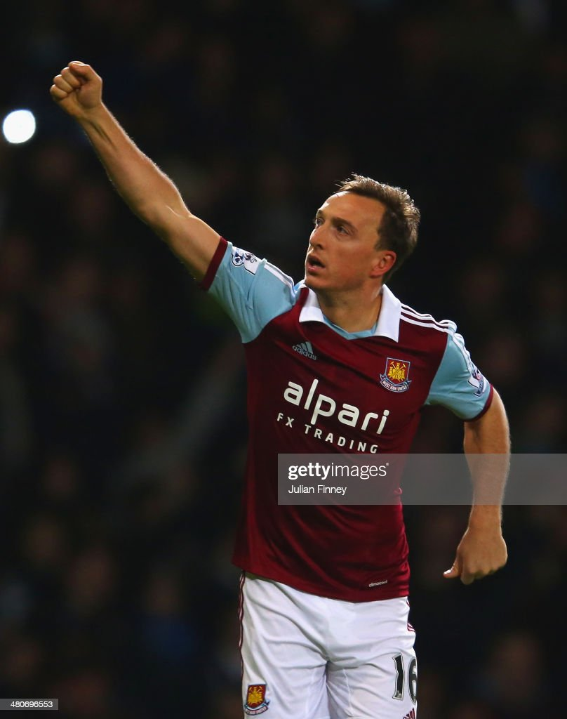 <a gi-track='captionPersonalityLinkClicked' href=/galleries/search?phrase=Mark+Noble&family=editorial&specificpeople=844055 ng-click='$event.stopPropagation()'>Mark Noble</a> of West Ham celebrates scoring the opening goal from the penalty spot during the Barclays Premier League match between West Ham United and Hull City at Boleyn Ground on March 26, 2014 in London, England.