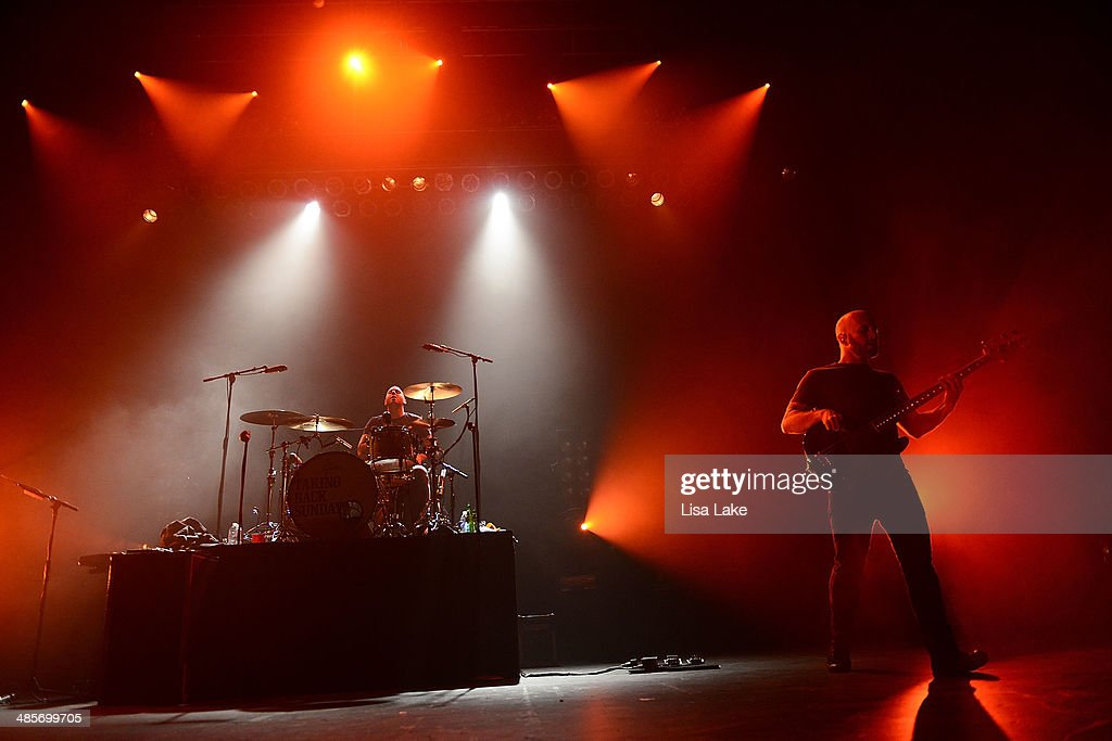 Mark O'Connell and Shaun Cooper of Taking Back Sunday perform at Sands Bethlehem Event Center on April 19, 2014 in Bethlehem, Pennsylvania.