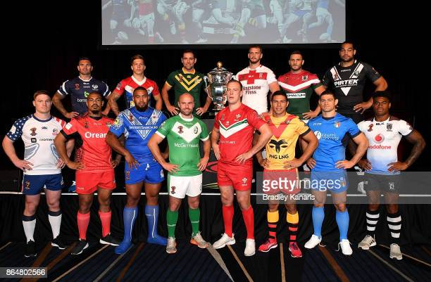 Mark Offerdahl of USA Danny Brough of Scotland Sika Manu of Tonga Theo Fages of France Frank Pritchard of Samoa Liam Finn of Ireland Cameron Smith of...