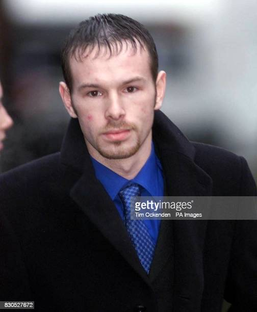 Mark Oliver arrives at Isleworth Crown Court where he is accused of stealing a suitcase belonging to Spice Girl Victoria Beckham She told the court...