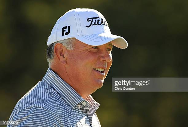 Mark O'Meara jokes on the range during the second round of the Charles Schwab Cup Championship held at Sonoma Golf Club on October 30 2008 in Sonoma...