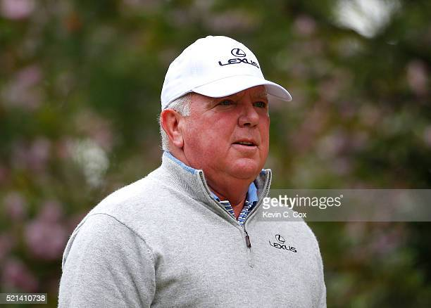 Mark O'Meara walks down the fourth hole during the first round of the Mitsubishi Electric Classic at TPC Sugarloaf on April 15 2016 in Duluth Georgia