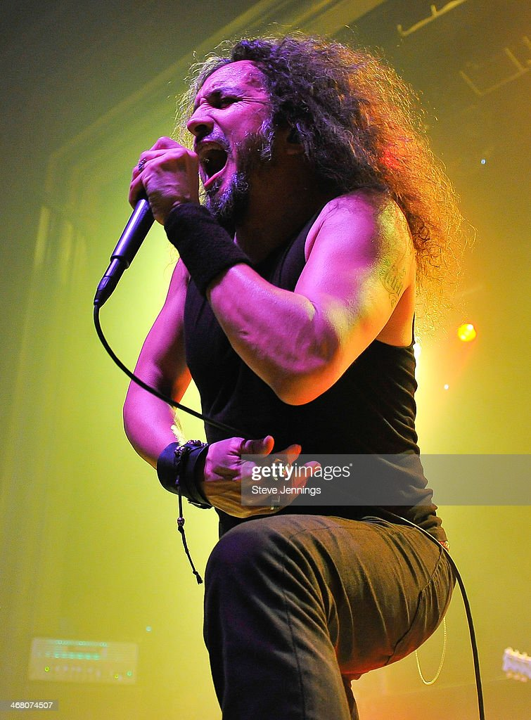Mark Osegueda of Death Angel performs at Kirk Von Hammett's Fear FestEvil at Grand Regency Ballroom on February 8, 2014 in San Francisco, California.
