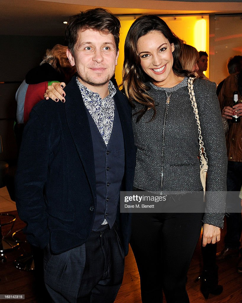 Mark Owen (L) and Kelly Brook attend the UK Premiere of 'Welcome To The Punch' at the Vue West End on March 5, 2013 in London, England.