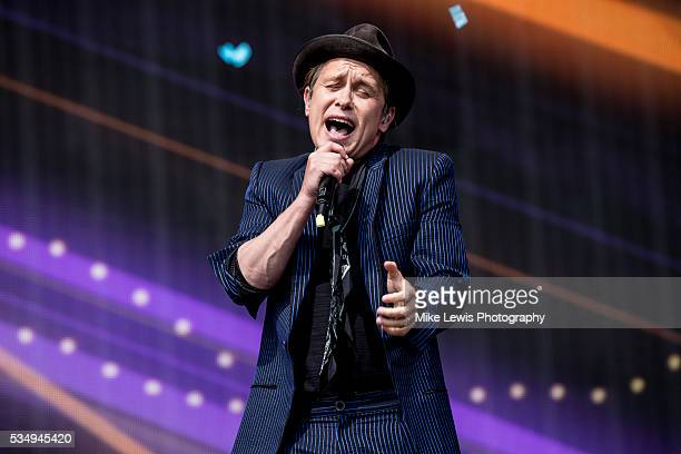 Mark Owen from Take That performs with Sigma at Powderham Castle on May 28 2016 in Exeter England