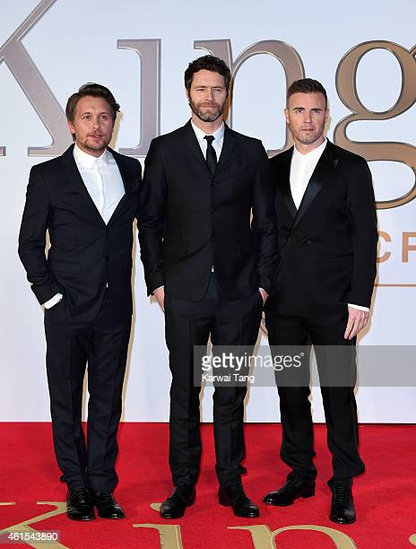 Mark Owen Howard Donald and Gary Barlow of Take That attend the World Premiere of 'Kingsman The Secret Service' at Odeon Leicester Square on January...