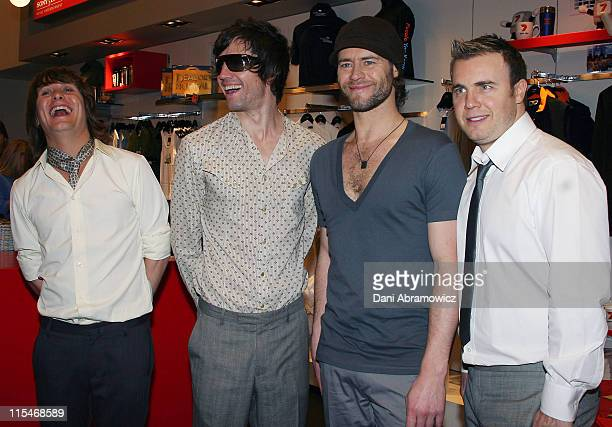 Mark Owen Jason Orange Howard Donald and Gary Barlow of Take That
